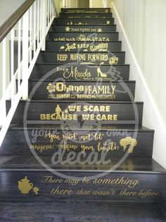 Ces Disney inspiré citations fera nimporte quelle maison à paraître magique. Collez-les sur votre escalier ou les murs, ajoutant cette touche