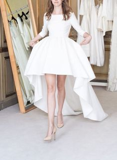White Homecoming Dress,White Homecoming Dresses,Party Dress,High Low #Short Homecoming Dress #HomecomingDresses #Short PromDresses #Short CocktailDresses #HomecomingDresses