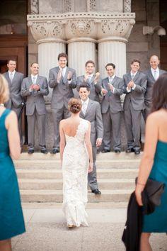 Photography: m three studio / Ceremony + Reception Venue: Pier Wisconsin / Bride's Gown: Ulla Maija