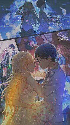 Mobile Wallpaper by Yuki Takamiya Sad Anime, Me Me Me Anime, Anime Love, Anime Collage, Anime Art, Wallpaper Animes, Animes Wallpapers, Kaori Anime, Anime Watch