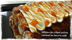 gâteau de crêpes aux poires et caramel au beurre salé 4