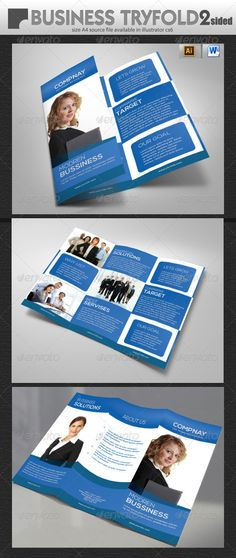 Multipurpose Tri-Fold Brochure Vol-3 Templates, Tags and Business - microsoft word tri fold brochure