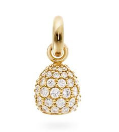 Ole Lynggaard Copenhagen Sweet Drop charm Pave set with diamonds = 1.98ct in 18ct yellow gold - Kennedy Jewellers