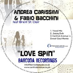 Love Spin release w/ Andrea Carissimi out on barcorda recordings