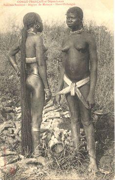 Herbal women - Femmes Boubous- Région de Mabaye - Haut Oubangui : Postcard Collection.
