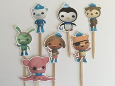 Amazing Octonauts Cupcake Toppers by DianasDen on Etsy