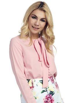 Faye Pink Bow Blouse