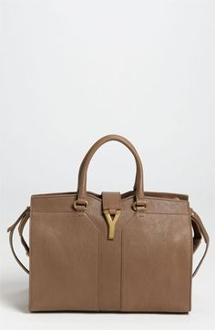 Yves Saint Laurent 'Cabas Chyc - Mini' Leather Satchel #handbag #purse #satchel #shoulderbag #glam #fashion #style #beauty #fab #fabulous #couture #loveit #fashionista #stylista
