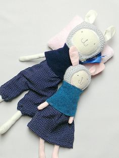 Bunny Doll Rag Doll Dress up Doll Cloth doll in by MiniwerkaToys