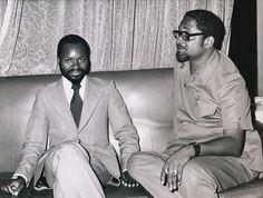 LF Burnham com Samora Machel. British Guiana, Burnham, Presidents, African, Congo, Roots, Leadership