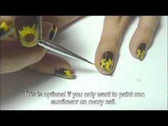 Sunflower Nail Art Tutorial