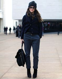 Shopbop's Morgan Wendelborn tries out the monochromatic look for size.