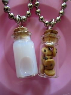 @Nicole Novembrino Stormann :D ... Milk and Cookie Best Friends Necklace by thegreatvorelli on Etsy, $17.00 @Crystal Chou Foxworth