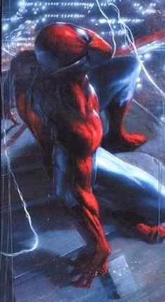 "#Spiderman #Fan #Art. (SPIDERMAN ""NIGHT ON THE TOWN"" LITHO. ) By: Gabrielle Dell'Otto. (THE * 5 * STÅR * ÅWARD * OF: * AW YEAH, IT'S MAJOR ÅWESOMENESS!!!™)[THANK Ü 4 PINNING!!!<·><]<©>ÅÅÅ+(OB4E)"