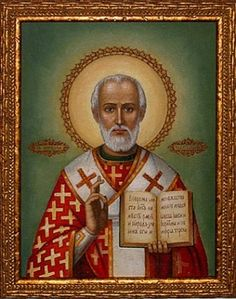 St. Nicholas. After believing in Christ, he sold all of his possessions for the poor. He also found out about a father who was going to sell his three daughters into slavery. To save them, he threw three bags of gold into the father's home and rescued the girls.