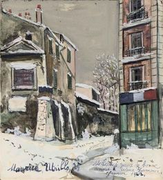 Cabaret De La Belle Gabrielle In Montmartre by Maurice Utrillo Handmade oil painting reproduction on canvas for sale,We can offer Framed art,Wall Art,Gallery Wrap and Stretched Canvas,Choose from multiple sizes and frames at discount price. Amedeo Modigliani, Monet, Cabaret, Maurice Utrillo, Montmartre Paris, Reproduction, Naive Art, Landscape Illustration, French Artists