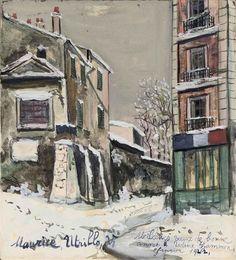 Maurice Utrillo, Cabaret de la belle Gabrielle à Montmartre