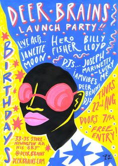 Put this baby in your diary ~ Deer Brains shop launch party!