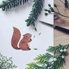 Nina Stajner. Illustrations. Animals. Crafts. DIY. Handmade. Creatures. Carvings. Wood. Sculptures. Glass. Forest. Owl. Fox. Bunny. Deer. Hedgehog. Mushroom. Flowers. Floral. Sweet. Rabbits. Birds. Mouse. Bunnies. Adorable. Cute. Necklace. Jewelry. Painting. Art. Watercolor. Pencils. Interior Design. Kids. Books. Clothes. Fashion. www.ninastajner.com