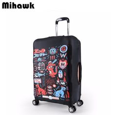Thermal Transfer Trunk Protective Case Polyester Elasticity Luggage Sets , L , g