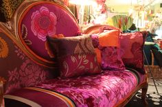 glorious plum, magenta and burnt orange - janehalldesign.com