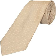 TiesRus Champagne and White Polka Dot Classic Men's Tie
