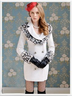 Morpheus Boutique  - White Leopard Double Breasted Hair Collar Long Sleeve Overcoat, CA$164.09 (http://www.morpheusboutique.com/white-leopard-double-breasted-hair-collar-long-sleeve-overcoat/)