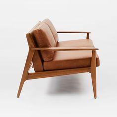 Sofas For Sale Mathias Mid Century Wood Frame Leather Sofa west elm