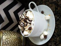 Homemade Campfire S'Mores Mocha Latte - Fall Drink