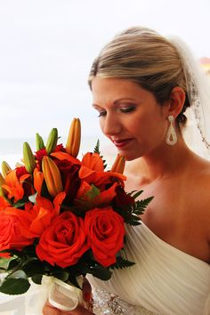 My gorgeous beach wedding bouquet - Thank you, Jake's Flowers!