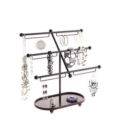 Earring Holder Organizer Bracelet Display Stand Jewelry Organizer Storage Rack - Tabletop or Wall Mount Necklace Storage, Jewellery Storage, Jewellery Display, Earring Storage, Bracelet Organizer, Bracelet Display, Jewelry Storage Solutions, Jewelry Organization, Closet Organization