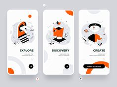 Weekly Design Inspiration - Expolore the best and the special ideas about Interface design Ios App Design, Mobile Ui Design, Interaktives Design, Icon Design, User Interface Design, Flat Design, Desing App, Design Thinking, Web Mobile