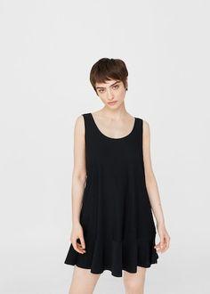 Sukienka z falbaną | MANGO