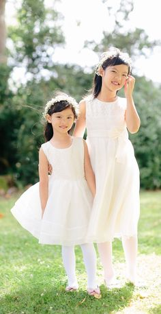 Rule #1 when it comes to picking a flower girl dress: make sure the little ladies can dance and move in them.