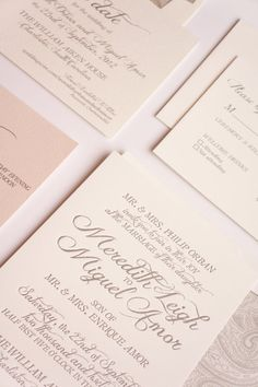 Romantic Blush and Grey Wedding Invitation on Etsy, $1.13 AUD