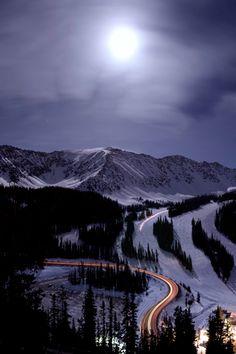 arapaho basin super moon, Colorado, by Brad McGinley on Flickr.(Trimming)