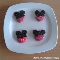 Galletas de mickey mouse con oreo para cumpleaños