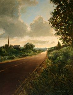 "Original Oil Landscape Painting - ""The Road Home"""