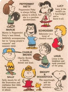5bb120adb3 meet the peanuts gang Snoopy Characters