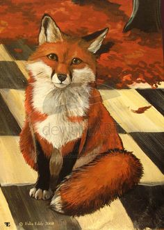 Fan Art of Red Fox for fans of Red Foxes. Animals Beautiful, Cute Animals, Fox Images, Fox Drawing, American Quarter Horse, Fox Pattern, Fox Art, Red Fox, Altered Art