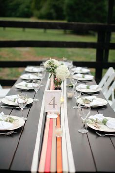 Ribbon table runners -   Photography By / http://martalocklearphoto.com,Floral Design By / http://hbloom.com