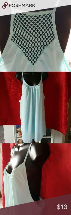 "Baby Blue Pretty nwot. Swim Cover up dress. Spaghetti straps.  Length 36"" Swim Coverups"
