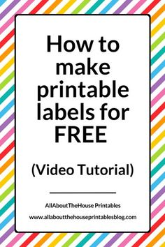 How to make printable labels for FREE (using Canva), video tutorial, step by step, DIY, labels, pantry label, kitchen label, how to make organizing labels, address label, name label, school label, printable label, how to make printables, gift label, how to make stickers, canva, tutorial, planner, accessory, organization, home, office, stationery, how to organize an office, drawer label, filing cabinet labels…