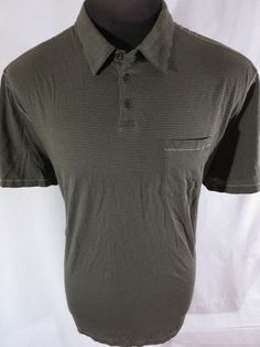 John #Varvatos #USA Striped Polo Shirt XXL Green Slim Athletic Modern Fit  #JohnVarvatosUSA #PoloRugby #fashion #style