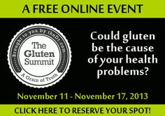 The FREE Gluten Summit -- Change your life for the better!