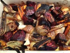 Roasted Root Veggies…They're Good For You Roasted Root Vegetables, Root Veggies, New Recipes, Pork, Beef, Cooking, Healthy, Kitchens, Kale Stir Fry
