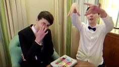 this is basically them...summed up in one picture, dan's regretting something ,and phil's just being weird