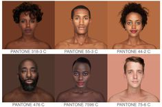 Photographing Every Skin Tone in the World - http://www.psfk.com/2015/05/every-pantone-skin-tone-in-the-world-in-pantone-colors-angelica-dass.html