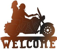 MC riders welcome sign