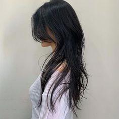 Korean Haircut Long, Korean Long Hair, Haircuts Straight Hair, Long Hair Cuts, Shot Hair Styles, Curly Hair Styles, Mullet Hairstyle, Long Layered Hair, Layers For Long Hair